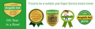 Superior Fabric Cleaners Angie's List Super Service Award Winner 5 years running